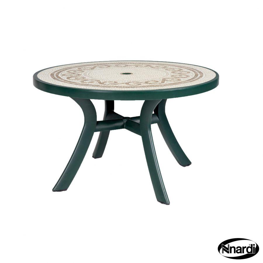 Toscana 120 table green revenna top