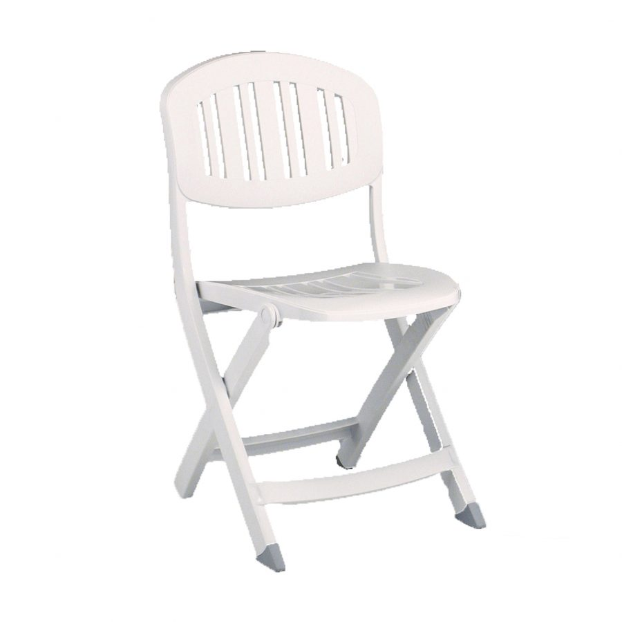 Capri folding chair in white
