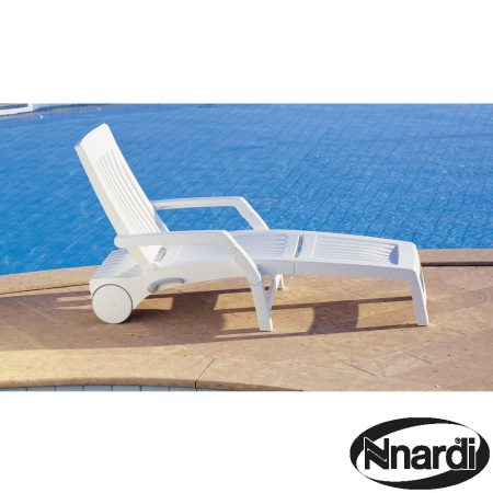 nettuno sunlounger in white