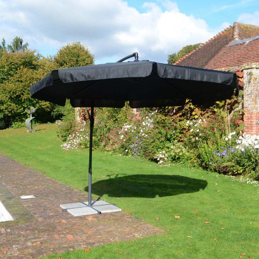 3.0m Cantilever Parasol - black