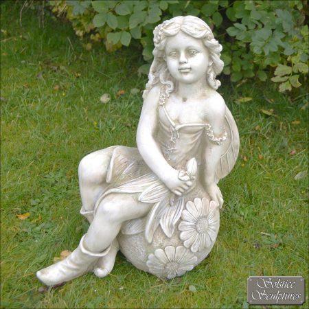 Petal fairy garden statue