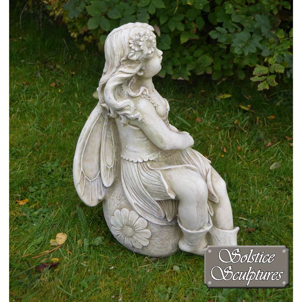 Petal garden fairy ornament right hand side