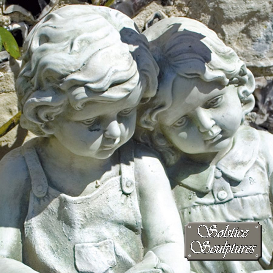Polly & Peter garden statue, close up