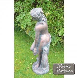 Rachael garden statue left hand side view