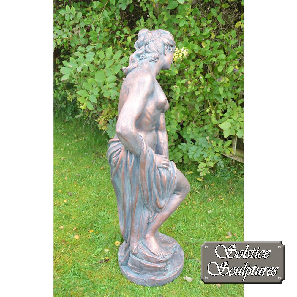 Racheal garden statue right hand side view