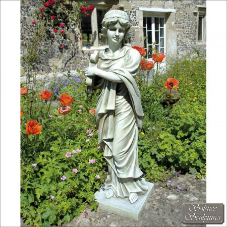 Rose garden statue