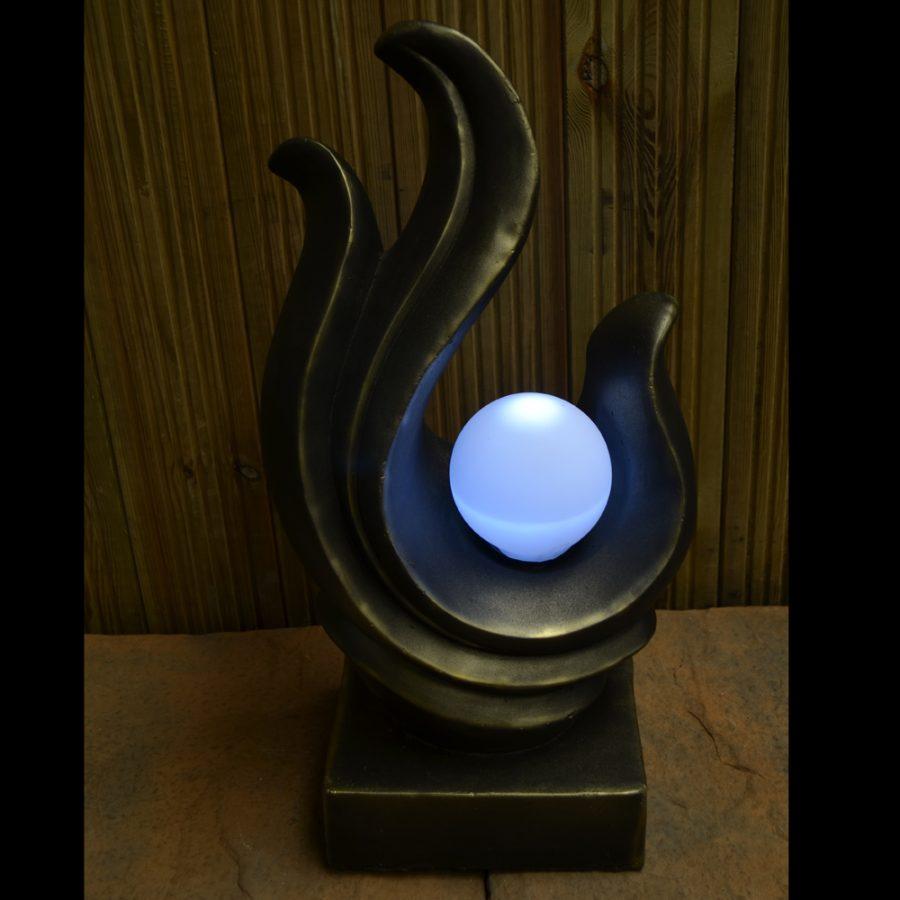 Solar Sculpture / lamp in dark
