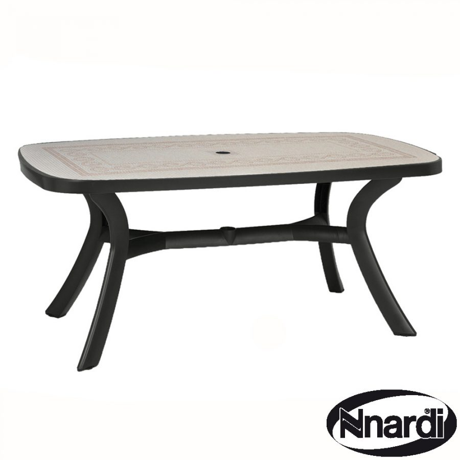 Toscana 165 table in Anthracite