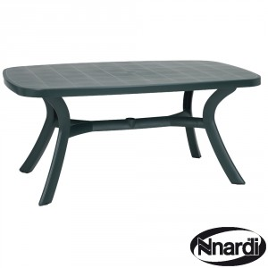 Toscana 165 table in plain green