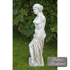 Venus is the Roman goddess Left hand side view