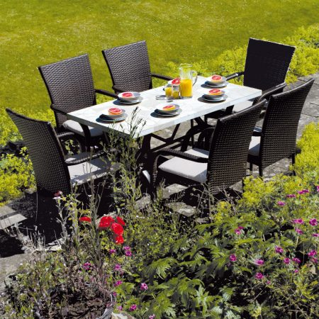 Montreux table with Castello chairs