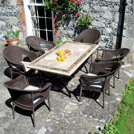 Monte Carlo table with 6 Woburn chairs