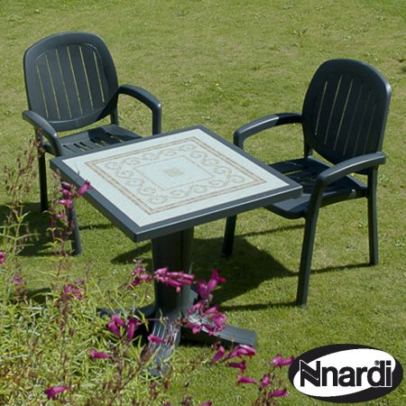 Nardi Giove 70 Table with 2 Kappa chairs - Anthracite