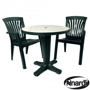Marte 78 table with Diana chairs green