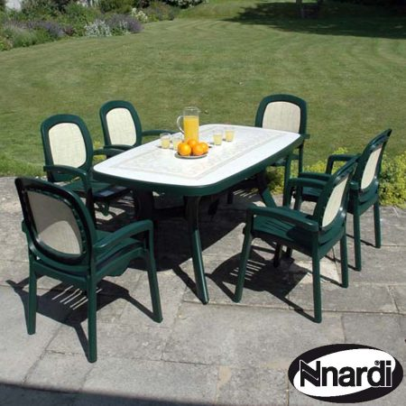 Toscana 165 with 6 Beta chairs in green