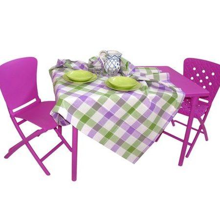 Zic Zac folding set in purple