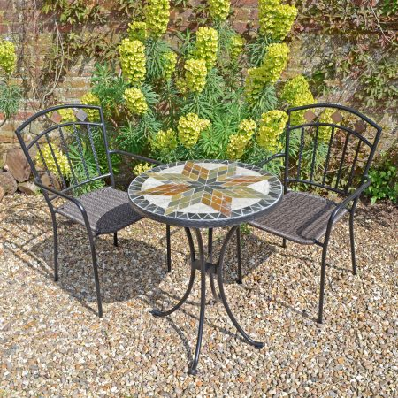 MONTILLA 60CM BISTRO TABLE WITH 2 MALAGA CHAIR SET LG1