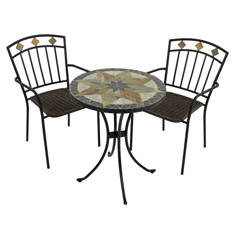 MONTILLA 60CM BISTRO TABLE WITH 2 MALAGA CHAIR SET WG1