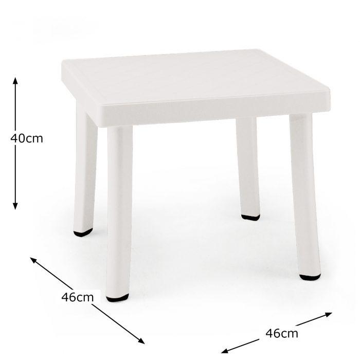RODI SIDE TABLE WHITE DIMENSION MS10