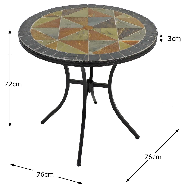 TOBARRA 76CM BISTRO TABLE DIMENSION MS1