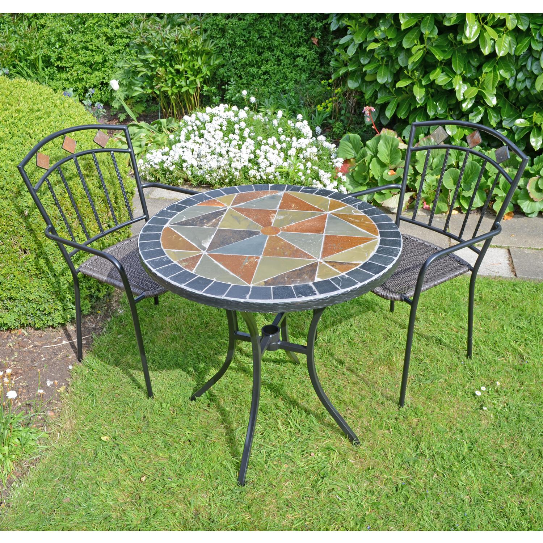 TOBARRA 76CM BISTRO TABLE WITH 2 MALAGA CHAIR SET LG1