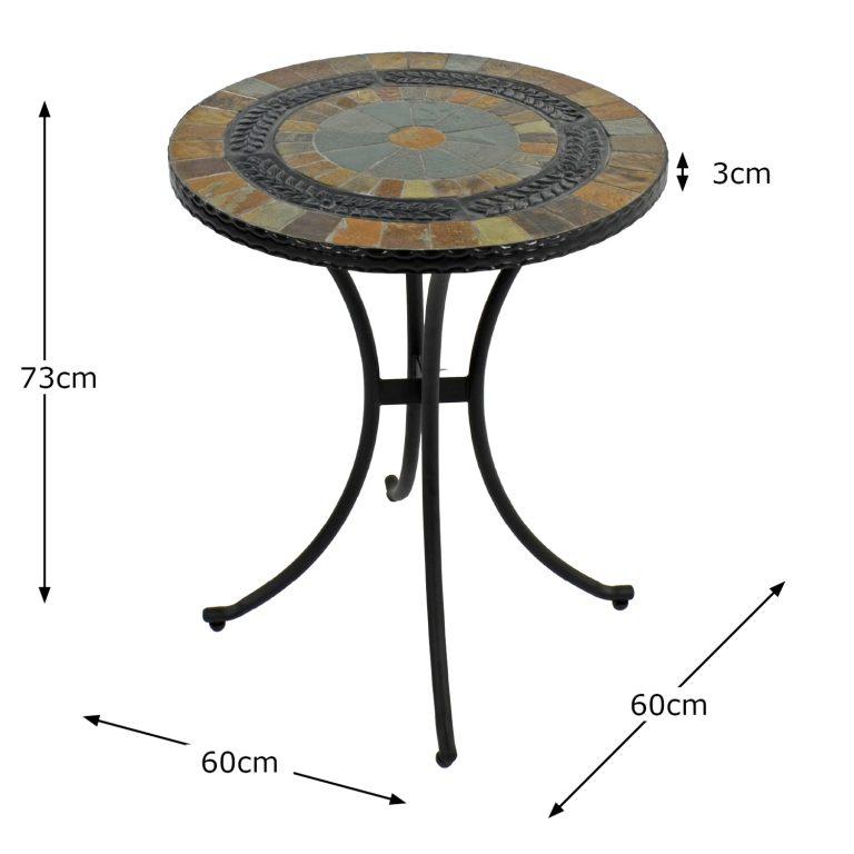 VILLENA 60CM BISTRO TABLE DIMENSION MS1