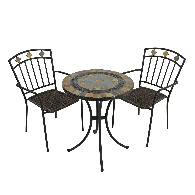 VILLENA 60CM BISTRO TABLE WITH 2 MALAGA CHAIR SET WG1