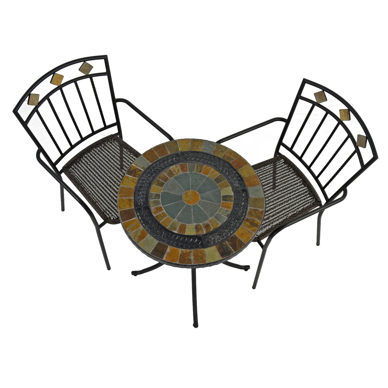 VILLENA 60CM BISTRO TABLE WITH 2 MALAGA CHAIR SET WG2