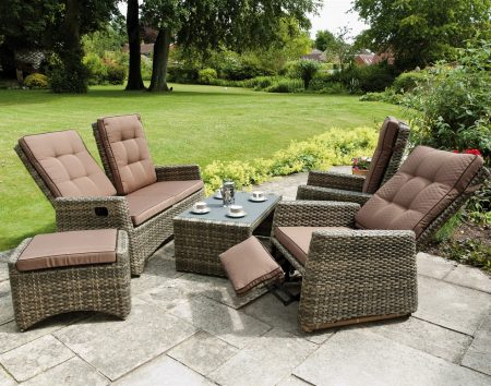 Rufford Sofa Set Reclined