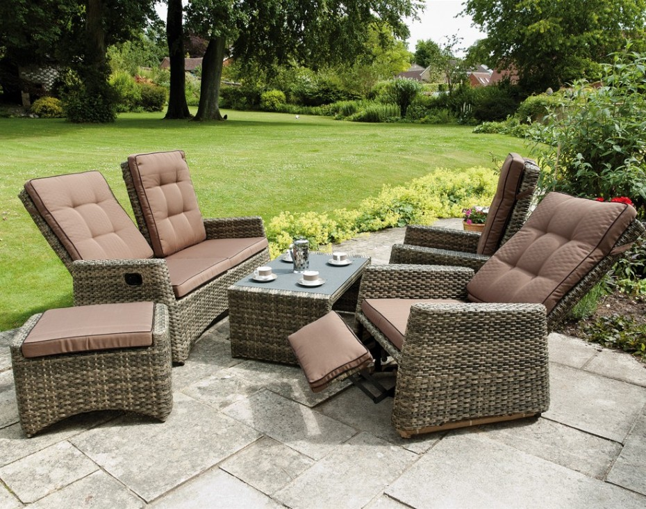 Rufford Sofa Set Reclined