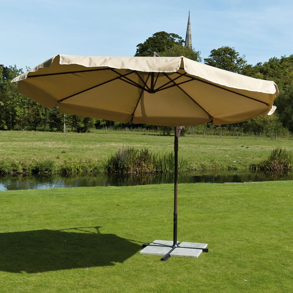 3m Beige cantilever parasol