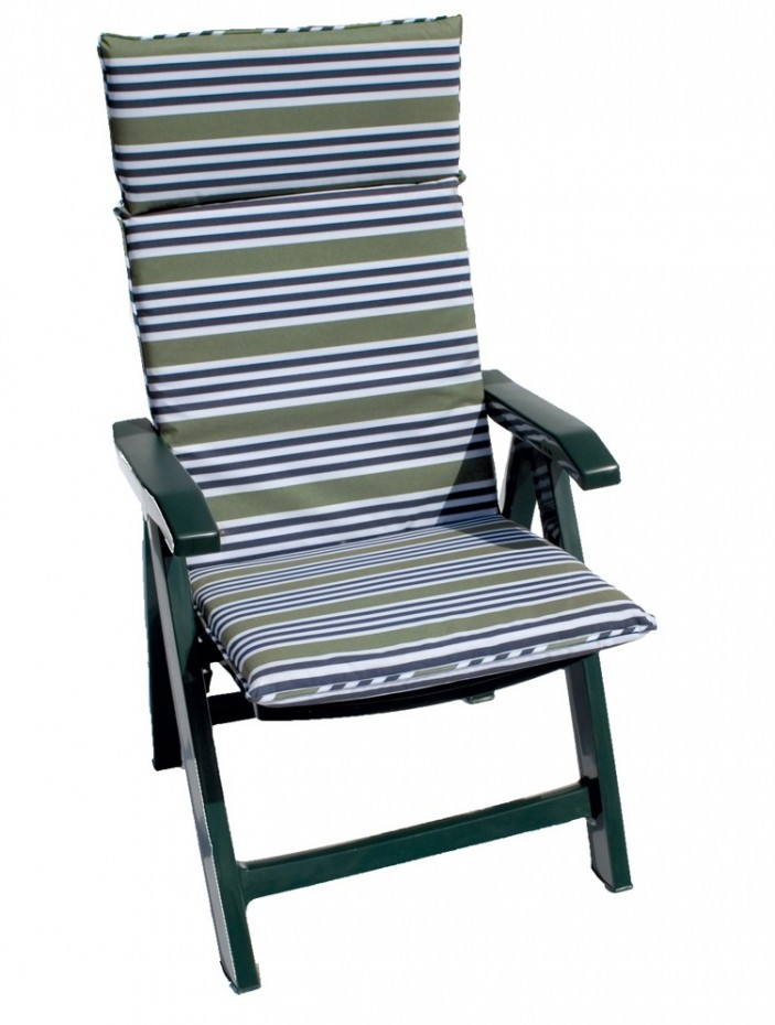 Flora chair Cushion Green Stripe