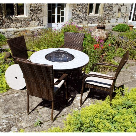 Tudela firepit table tall Castello