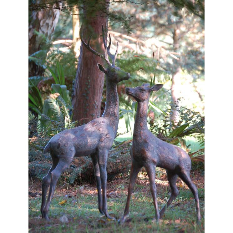 Large deer statue
