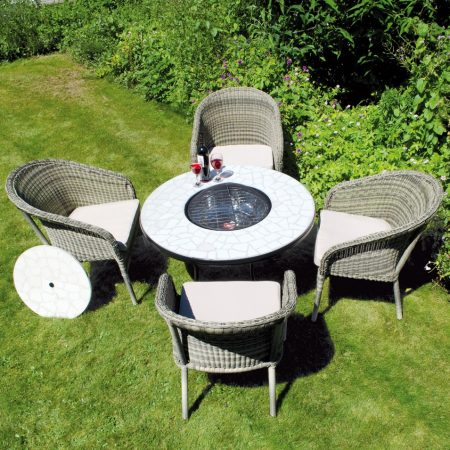 Tudela low firepit table with Arundel chairs