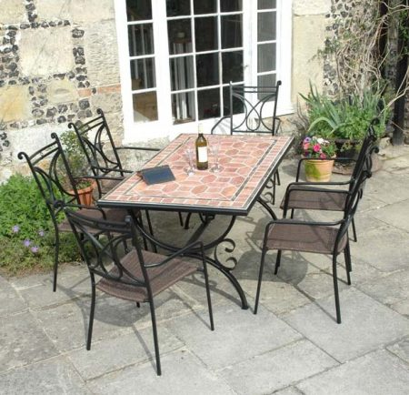 Rennes table with Treviso chairs