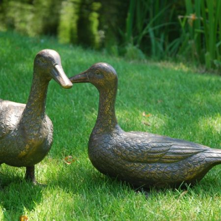 Pair of Ducks in Aluminium