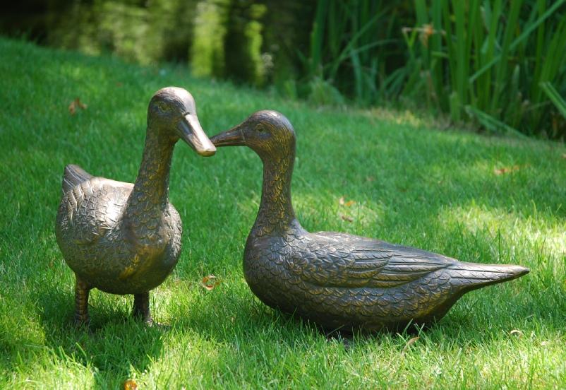 Pair of Ducks in Aluminium