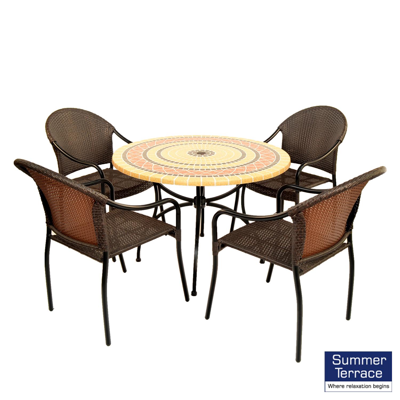 Mataro Patio table with San Tropez chairs