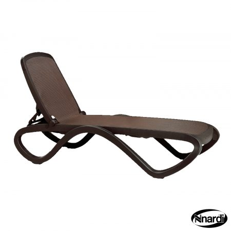 Omega sunlounger in Coffee