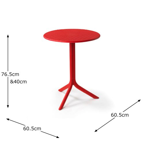 STEP TABLE RED DIMENSION MS1