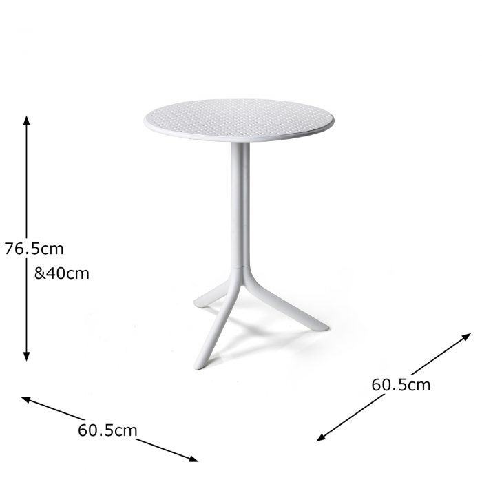 STEP TABLE WHITE DIMENSION MS1