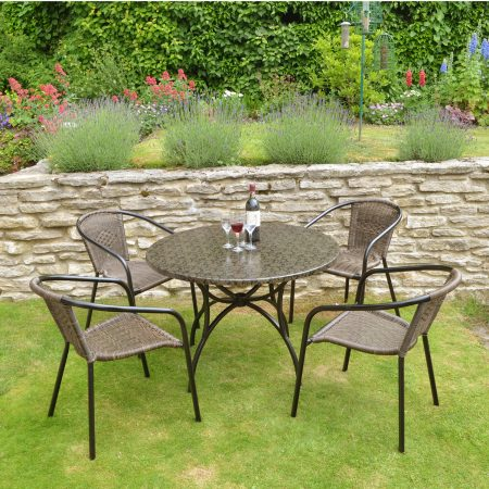 Fleuretta Patio table with San Remo