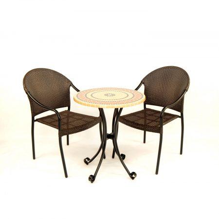 Mataro bistro set with San Tropez chairs