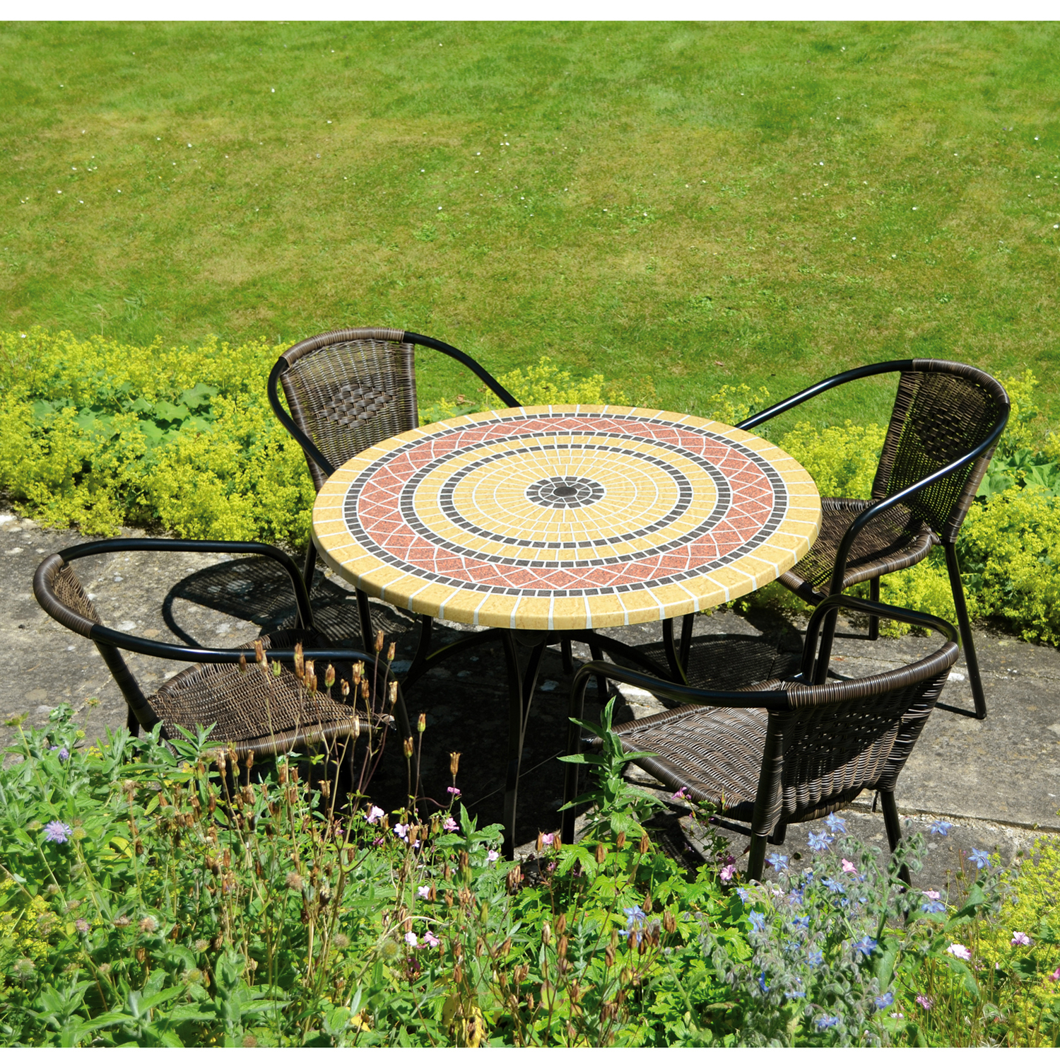 Mataro Patio Set with San Remo Chairs