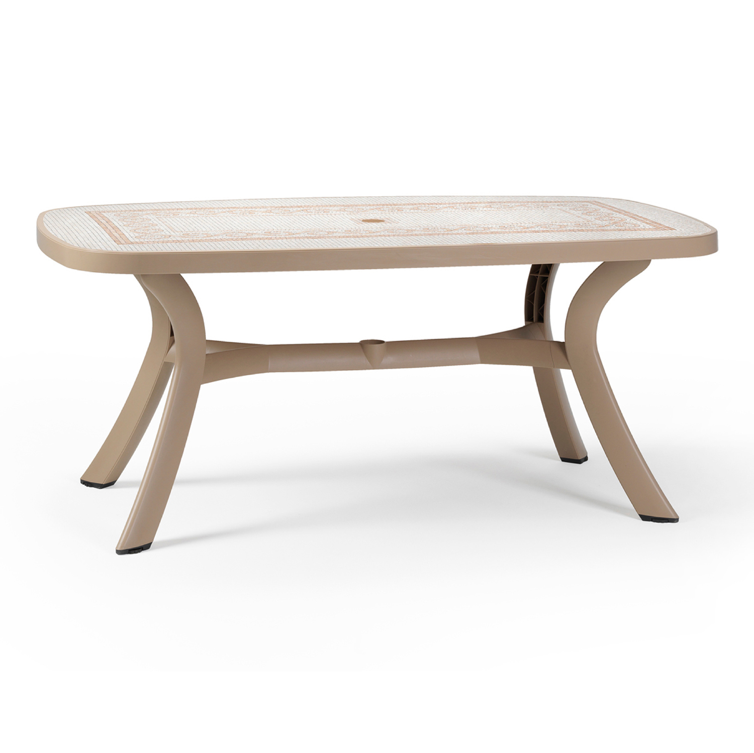 Toscana 165 table in Havanna brown