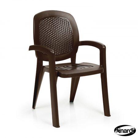 Coffee wicker Creta chair