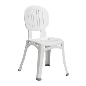 Elba stacking white resin chair