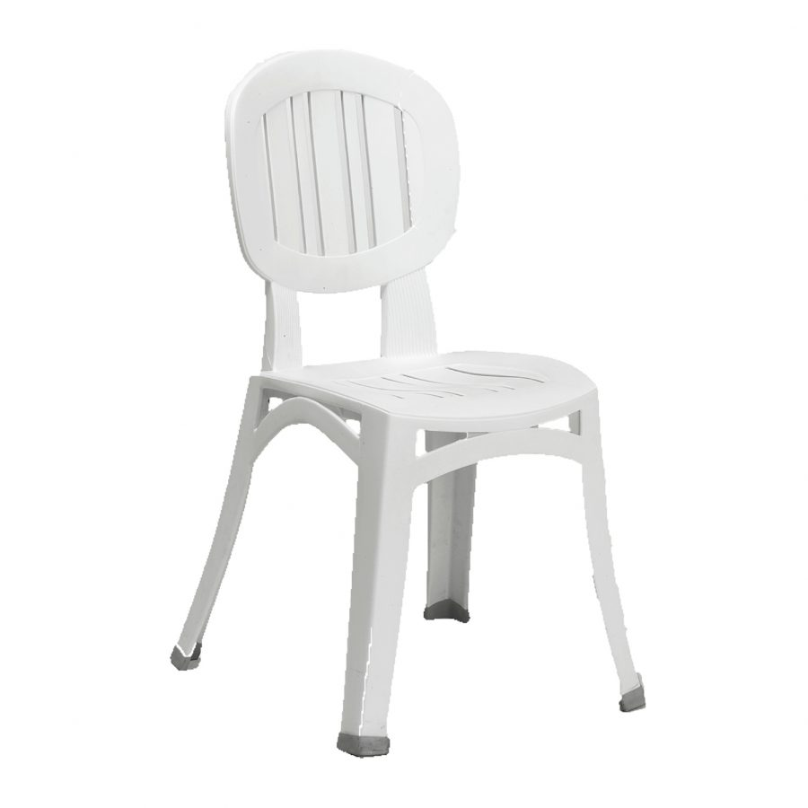 Elba stacking white resin chair