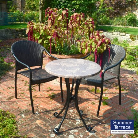 Romano Bistro table with San Tropez Chairs